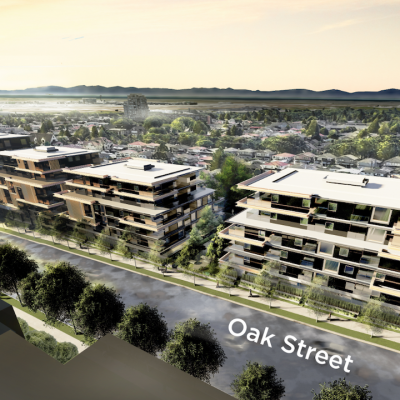 Rendering of 8029-8225 Oak St. and 1012 W 64th Ave. rezoning application