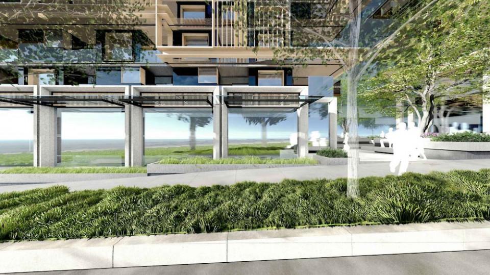 Block D retail units in development of Oak Street condos.