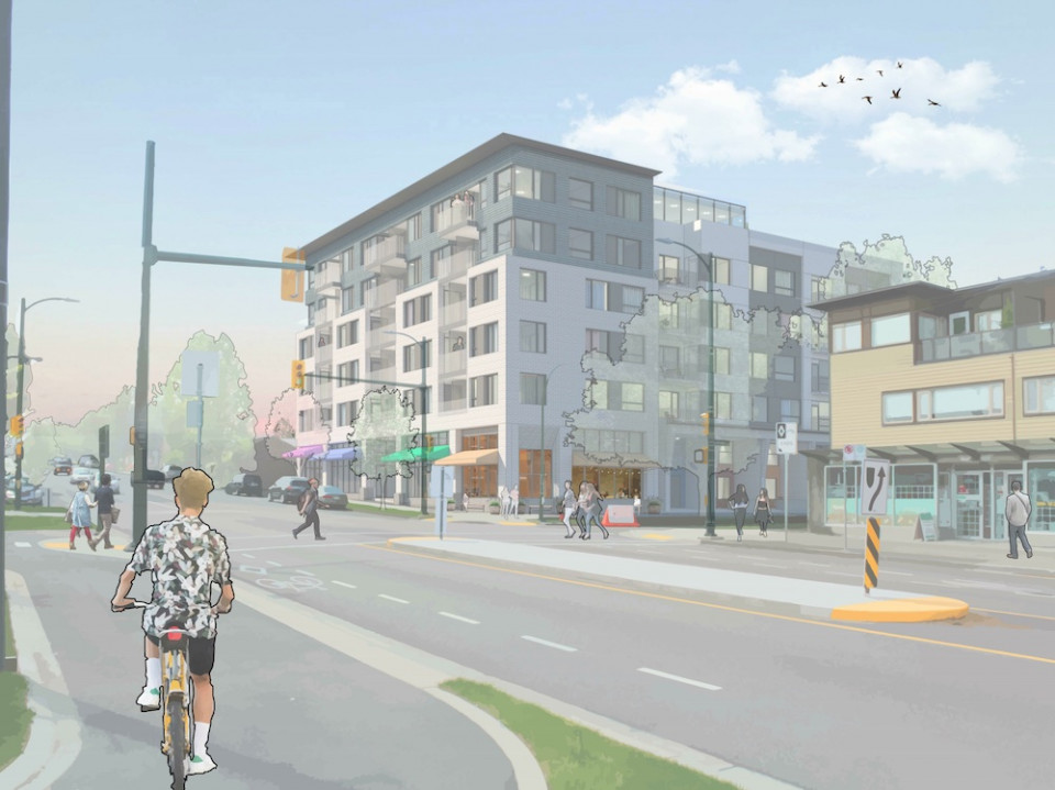 East Vancouver rentals by Cape Group at Nanaimo and Charles Street, view from northeast