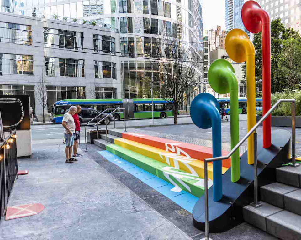 Step With Me Pride public art installation