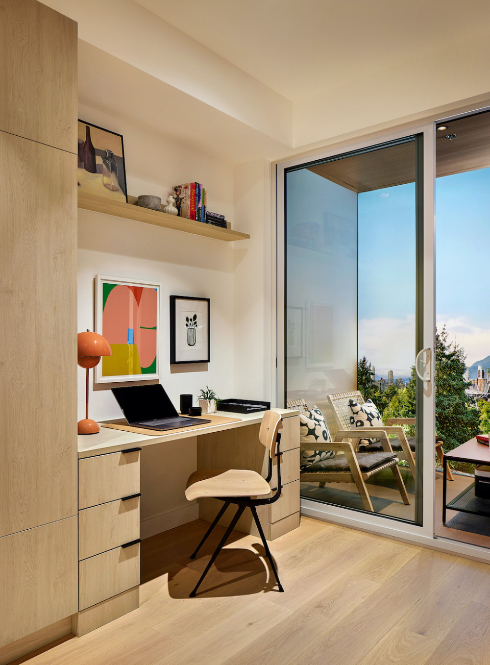 An office nook is perfect for working from home