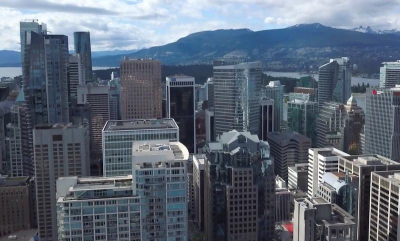 Buying presale - Vancouver skyline looking north.