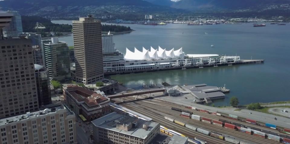 Buying presale - Looking towards Coal Harbour, a popular downtown Vancouver neighbourhood.