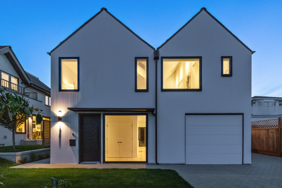 Exterior of home at 3855 Welwyn Street, Welwyn Cottage infill.