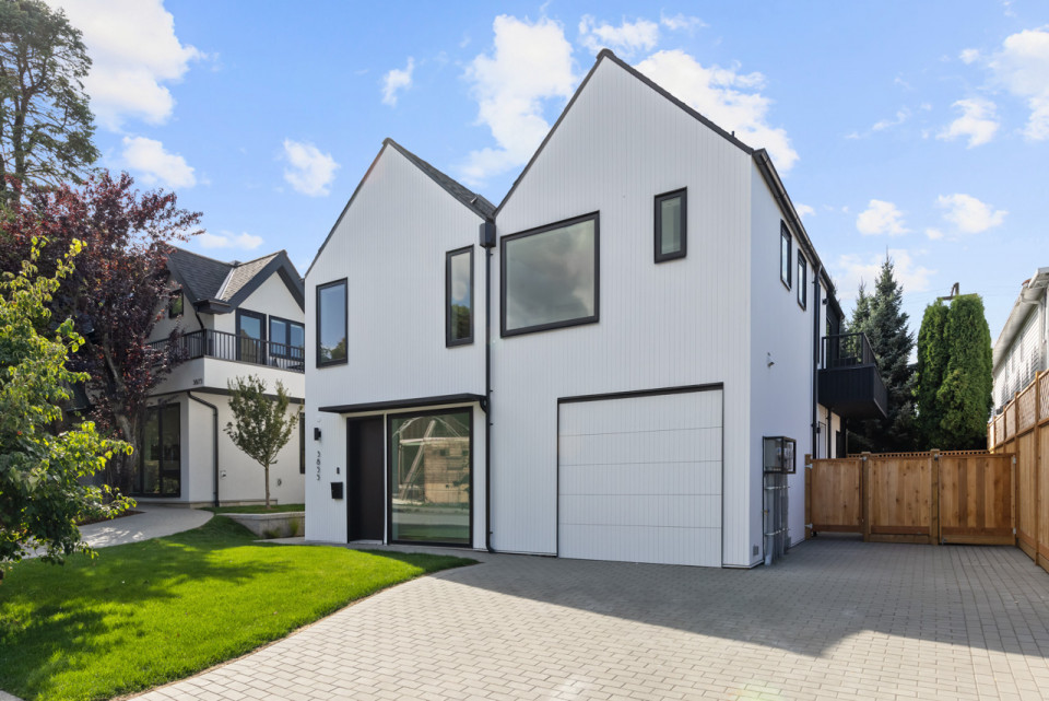 Exterior of infill home at Welwyn Cottage.
