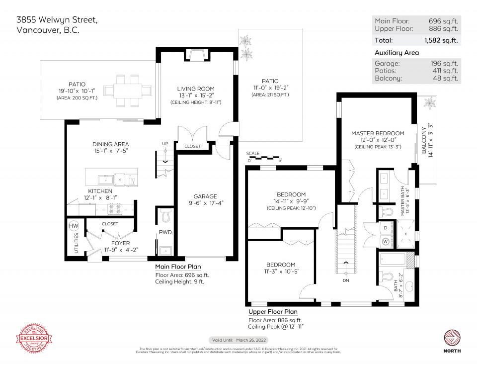 Floor plan of 3855 Welwyn Street
