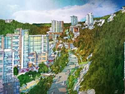 Artist's Illustration of Multi-Family Residential Development Along Eagle Lake Road