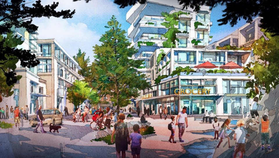 Artist's Illustrations of Cypress Village Mixed-Use Village Core 2