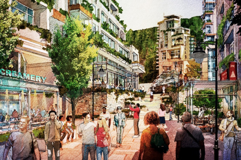 Artist's Illustrations of Cypress Village Mixed-Use Village Core