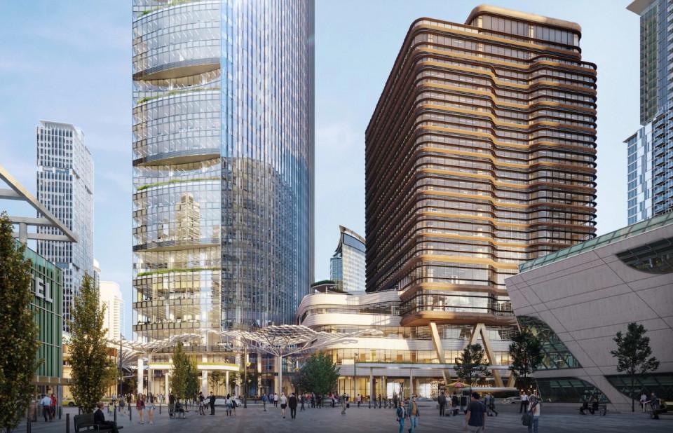 Centre block rendering