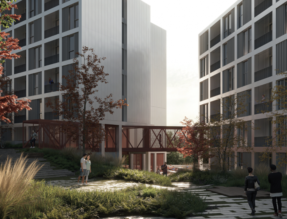 Comma Properties project at SFU in Burnaby