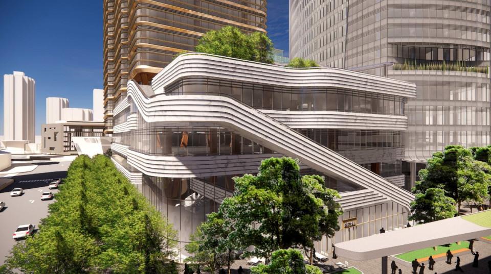 Design concept - public access to roof garden