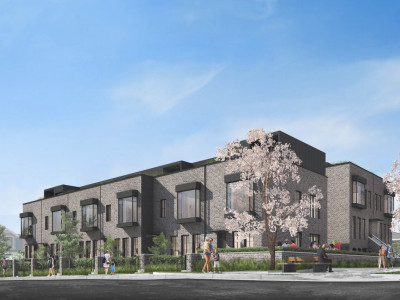 Townhouse development at King Edward and Columbia