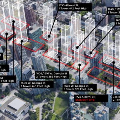 Neighbouring developments to 1723 Alberni Street