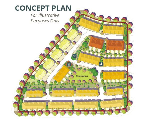 Concept plan for Burke Mountain townhouse site