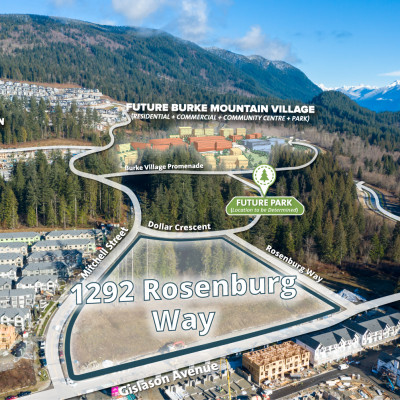 Burke Mountain townhouse site aerial