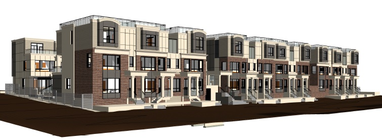 Stacked townhouses at 588 West 24th Ave.